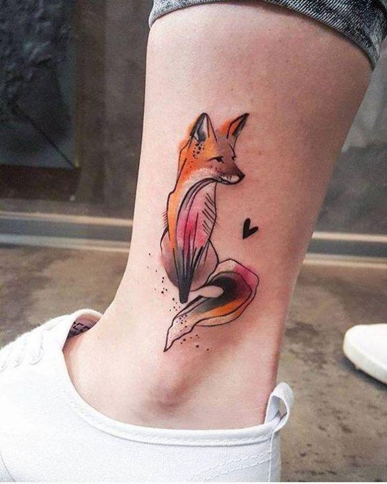 bonito zorro tatuaje