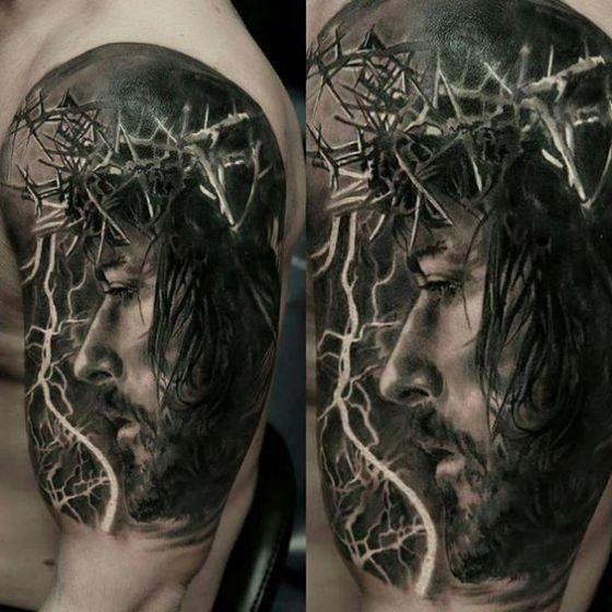 corona de jesus tatuaje