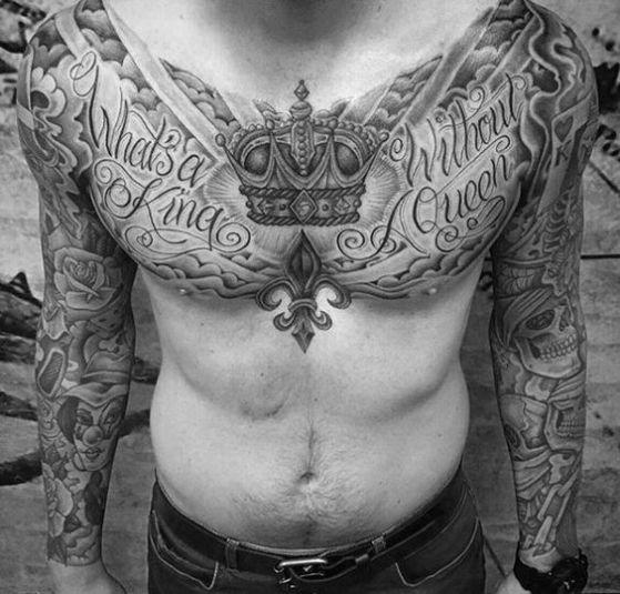 Witch King Tattoo On Guy S Chest: TATUAJES DE CORONAS 【 ⋆ Diseños ⋆ Ideas ⋆ Significados】