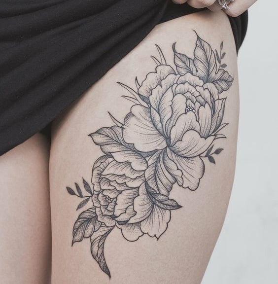 diseño de flores para poner en la pierna