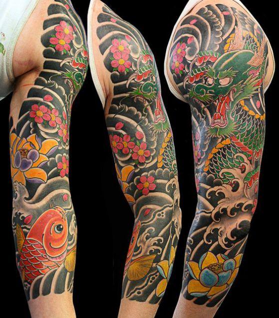 dragon koi - + 40 diseños de tatuajes de dragones con sus diferentes significados