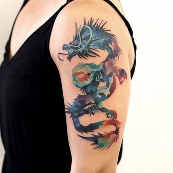 dragon tatuaje mujer - + 40 diseños de tatuajes de dragones con sus diferentes significados