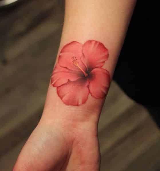 flor hibiscus realista