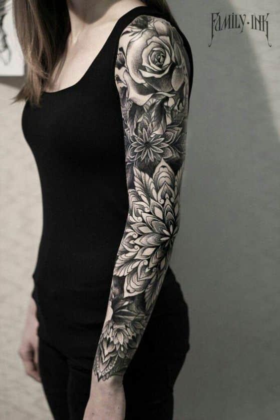 flores para chicas y tatuar