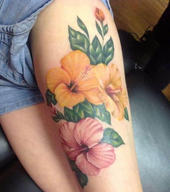 hibiscus tatuaje