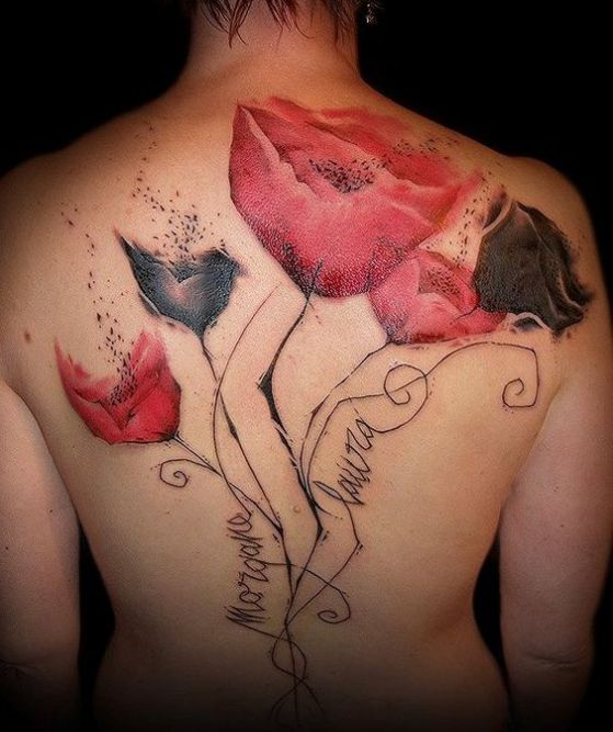 nombres con rosas en la espalda hombres
