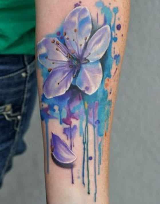 orquidea morada tatuaje