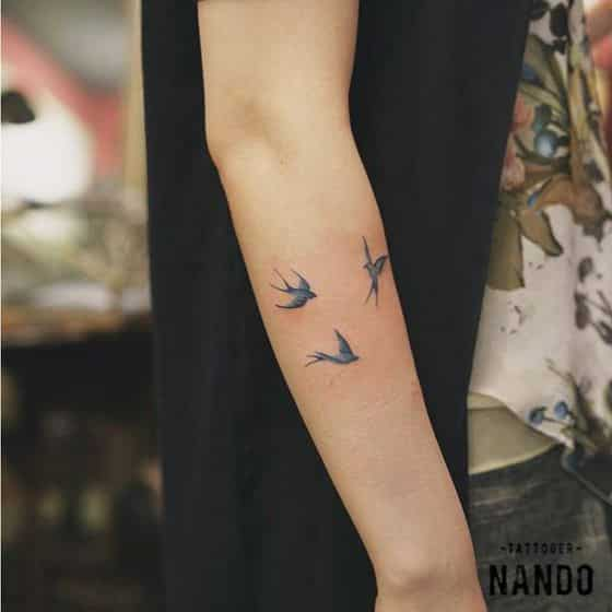 pajaros sencillo tattoo