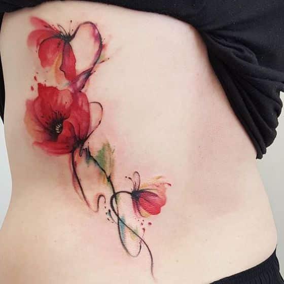 rosas de colores para tatuaje