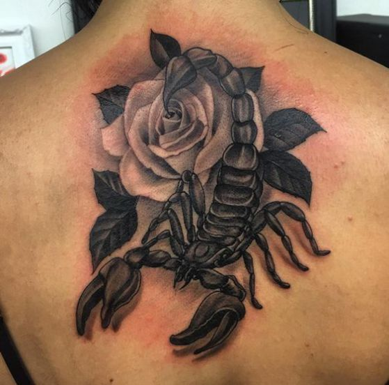 rosas y escorpiones tattoo