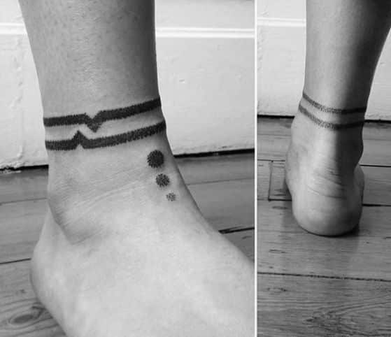 tattoo alrededor del tobillo para hombres