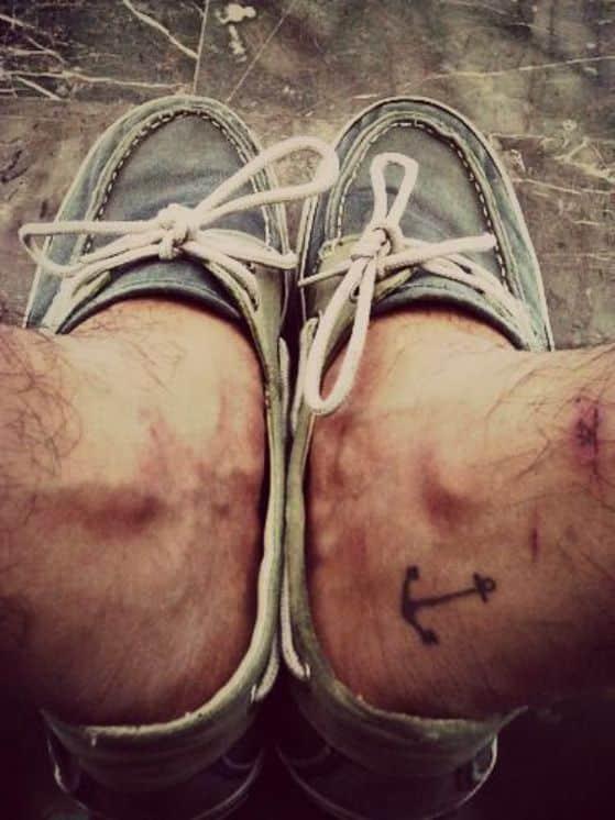 tattoo de ancla para hombres