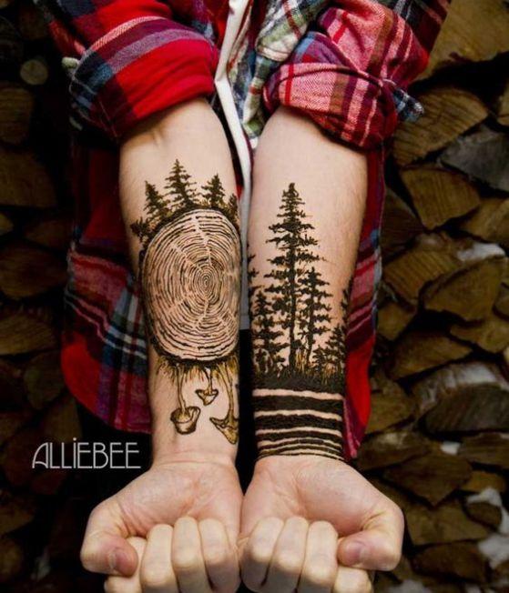 tatuaje 2 antebrazos