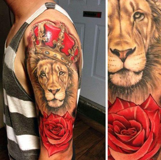tatuaje a color brazo completo