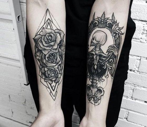 tatuajes en los 2 antebrazos
