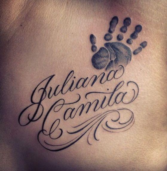 tatuarse el nombre de bebes