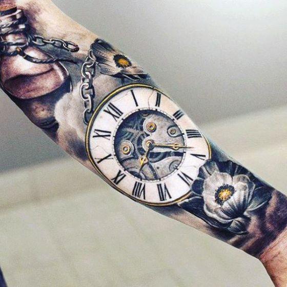 tiempo y flores tema tattoo