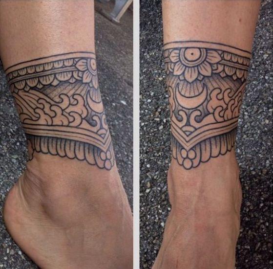 tobillera para hombre tattoo