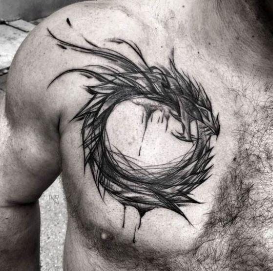 uroboro diseño - + 40 diseños de tatuajes de dragones con sus diferentes significados