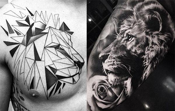 Tatuajes de leones para hombres, mujeres y sus diferentes