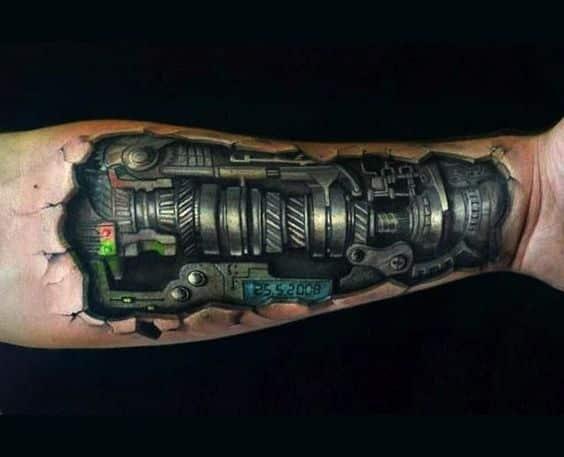 brazo 3D tattoo
