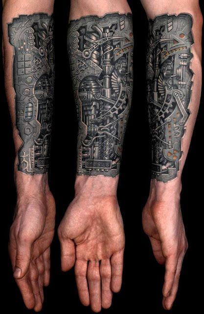 brazo mecanico tattoo