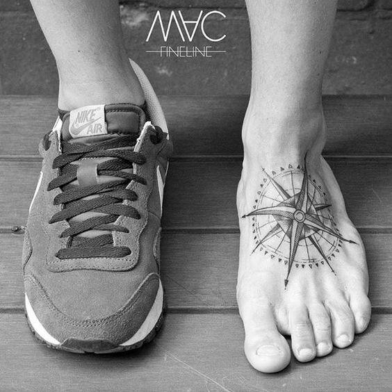 brujula tatuaje