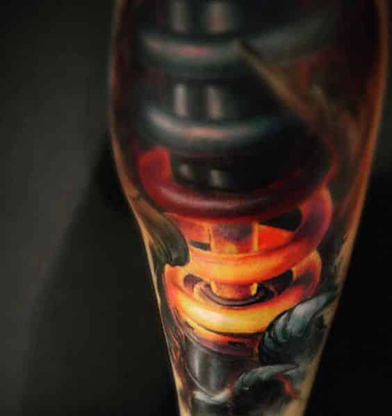 color tatuaje mecanico