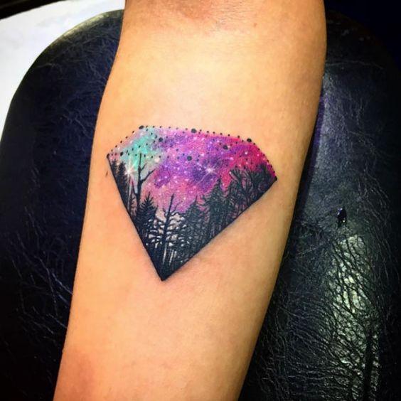 diamante en brazo