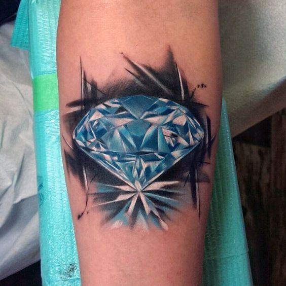 diamante en el brazo