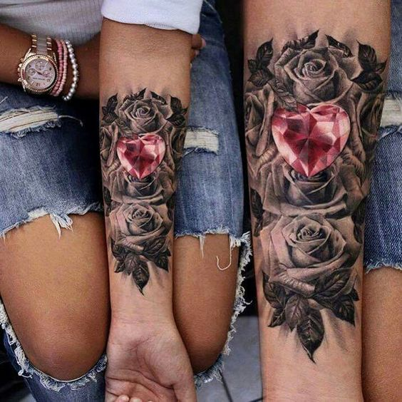 diamantes y rosas tatoo