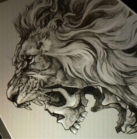diseño tatuaje calavera