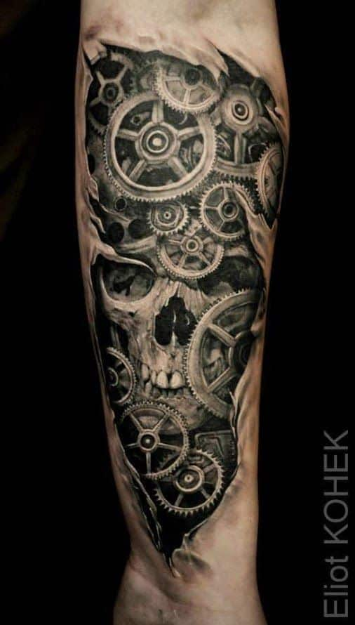 engranajes reloj bajo la piel