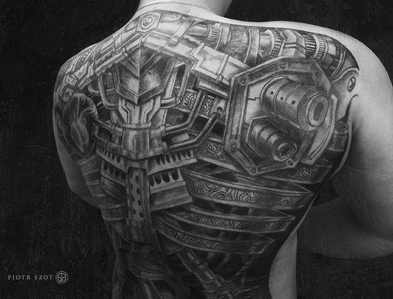 espalda hombre biomecanico