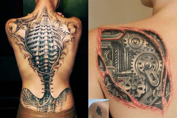 espalda tatuaja tatuaje mecanico2