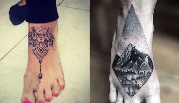 flor de loto en el pie tatuaje2