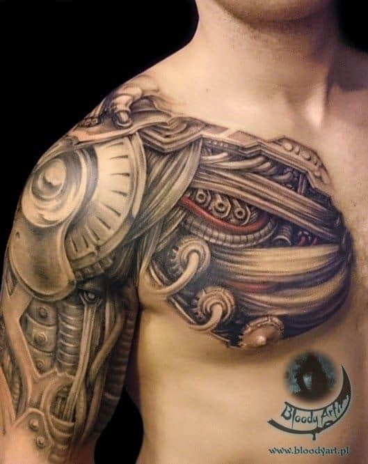 Tatuajes biomecnicos con increibles efectos 3D mujeres y hombres