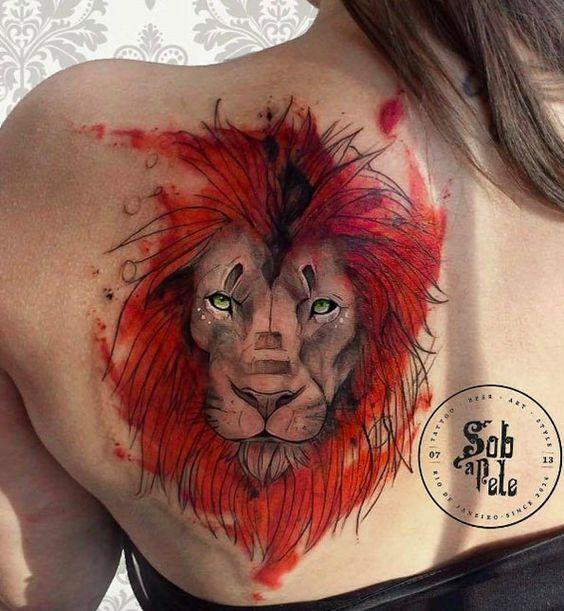leon con color
