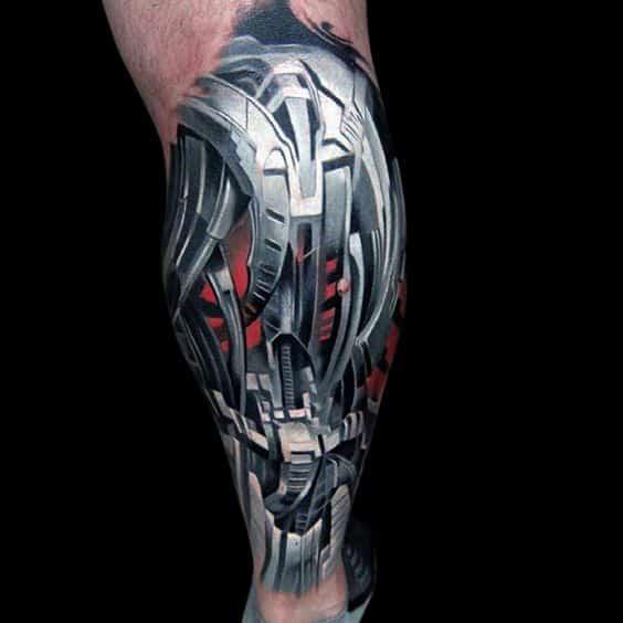 pierna tatuaje 3D