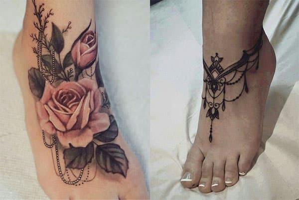 rosas tatuajes en pie2