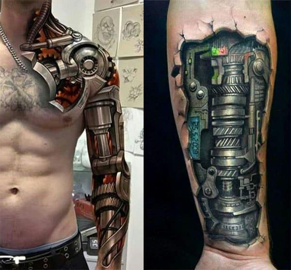 tatuajes biomecanicos brazo2