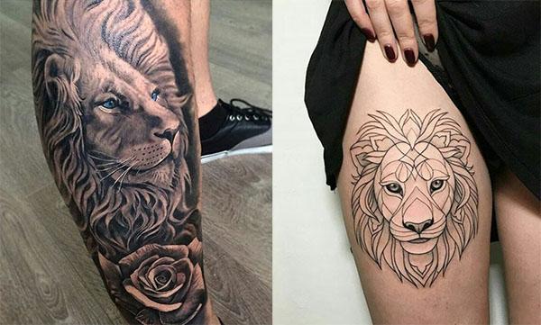 tatuajes de leon2