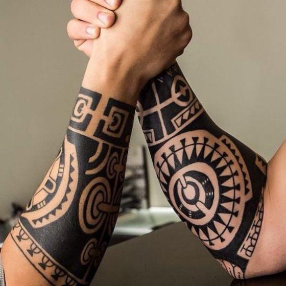 Tribal Amigos Tatuaje