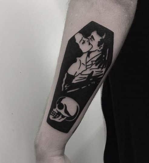 ataud tatuaje gotic