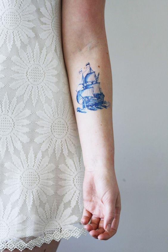 barco para chicas tatoo