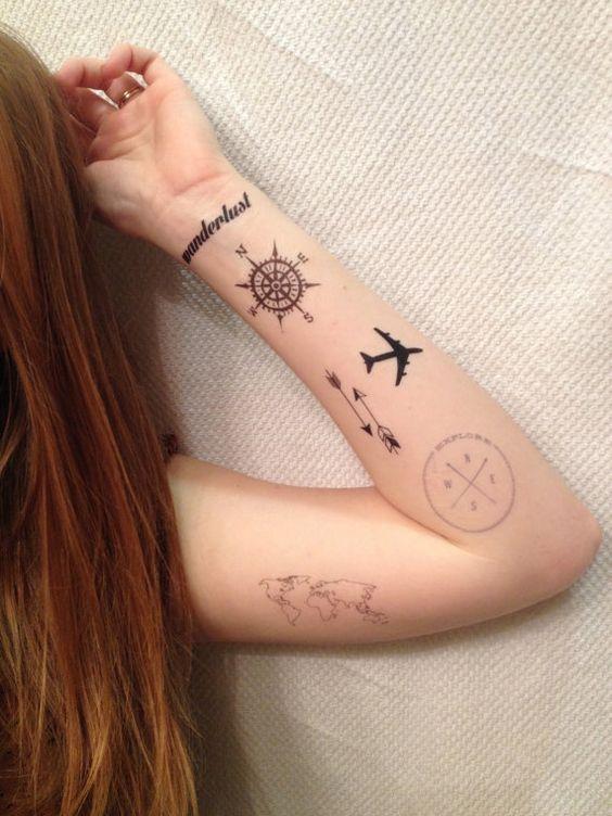 40 Tatuajes De Aviones Con Diferentes Disenos Y Su Principal Significado