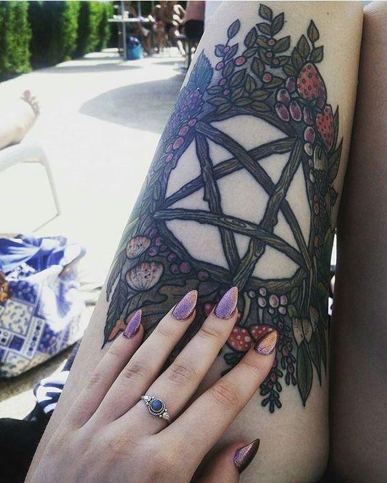 estrella cinco puntas tatoo