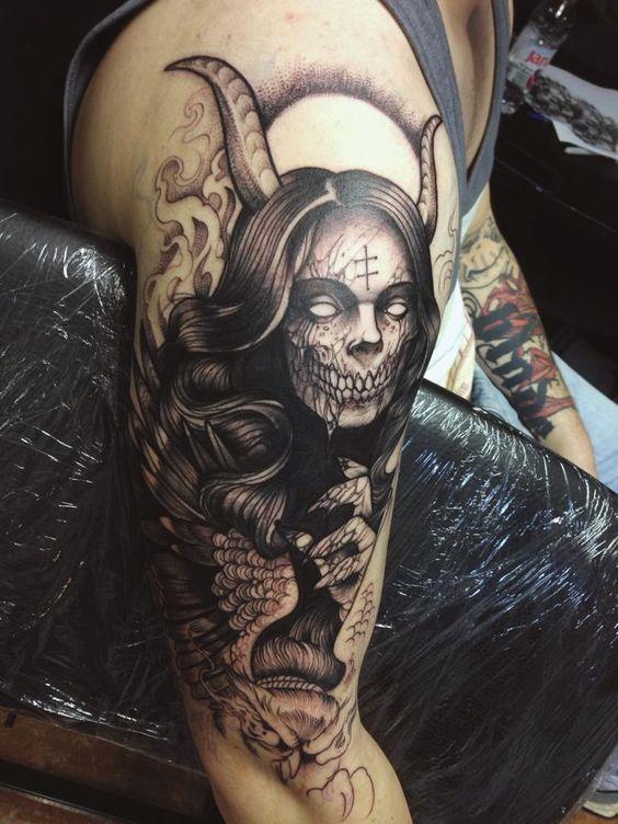 gotico tatuaje estilo dark