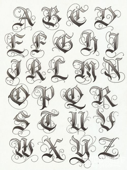 letras goticas para tatoo