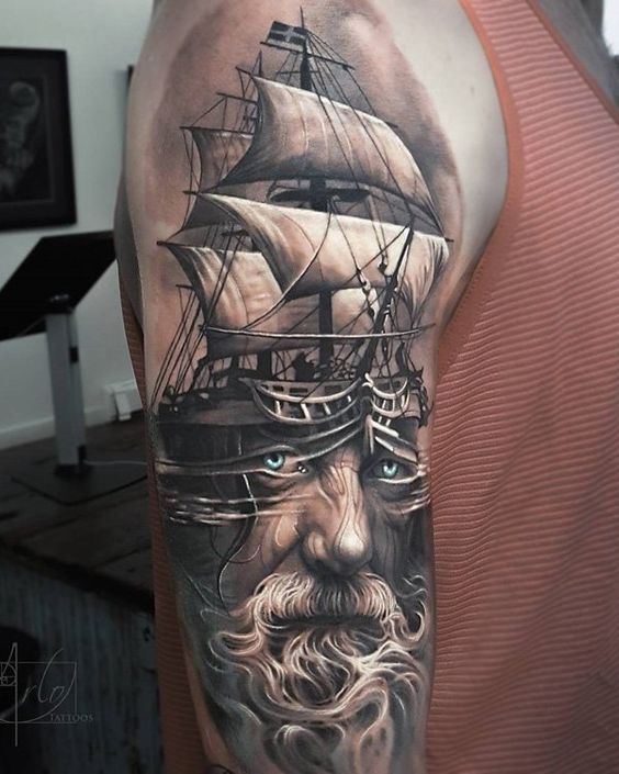 40 tatuajes de barcos con diferentes dise os y sus for Is a d ointment good for new tattoos